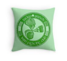 Lucky Punch Irish Fighting Club Throw Pillow