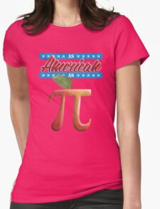 As American as Apple Pi - Cool Math Womens Fitted T-Shirt