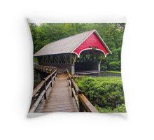Flume Covered Bridge Throw Pillow