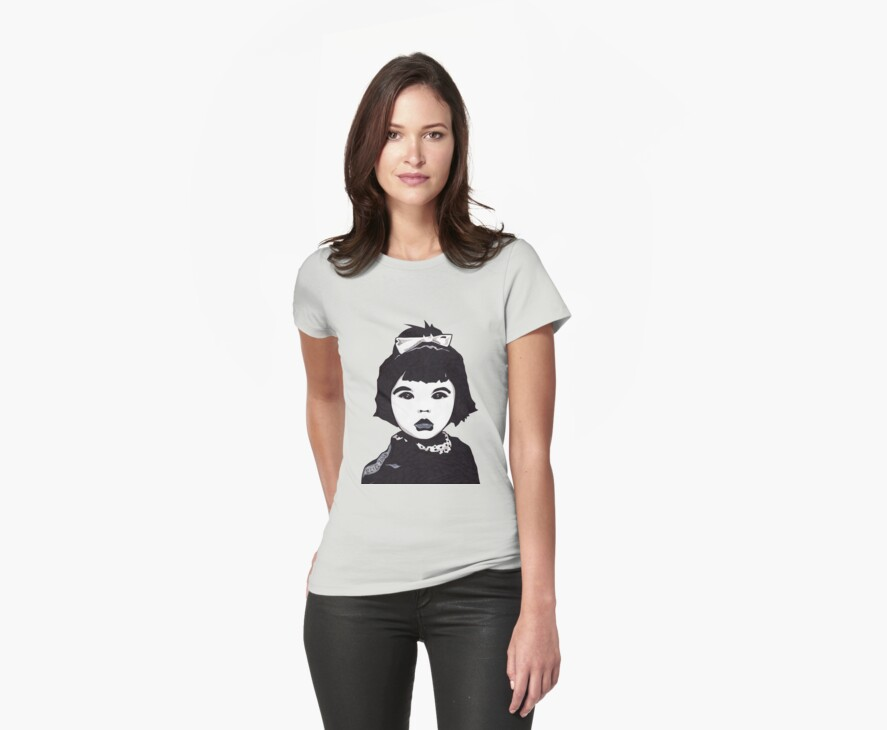 Baby Bjork t-shirt by Angelique  Moselle