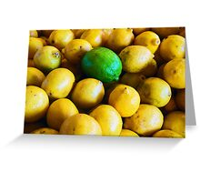 One Lonely Lime Greeting Card