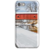Snowy Oakalla Covered Bridge iPhone Case/Skin