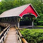Flume Covered Bridge by Kenneth Keifer