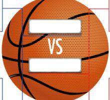 March Madness Basketball Bracket Chart Sticker