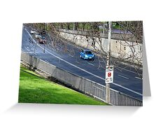 Driving into the tunnel, Melbourne Greeting Card