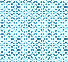 Star Cross Blue Pattern by Brett Perryman
