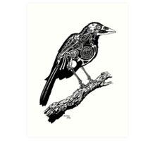 mechanical crow Art Print