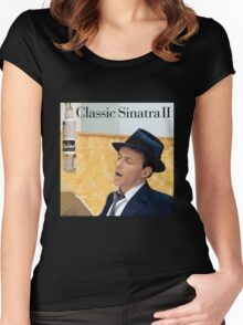 Frank Sinatra The Best of Singer Women's Fitted Scoop T-Shirt