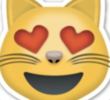 emoji cat heart eyes Sticker