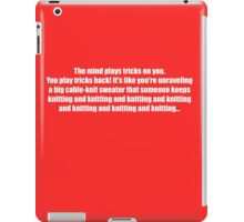 Pee-Wee Herman - Knitting and Knitting - White Font iPad Case/Skin