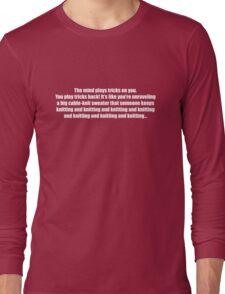 Pee-Wee Herman - Knitting and Knitting - White Font Long Sleeve T-Shirt