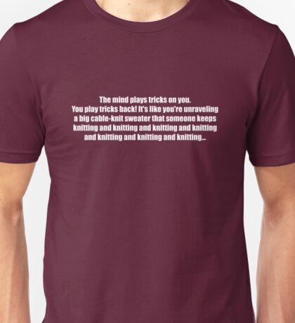 Pee-Wee Herman - Knitting and Knitting - White Font Unisex T-Shirt