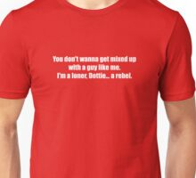 Pee-Wee Herman - Don't Wanna Get Mixed Up - White Font Unisex T-Shirt