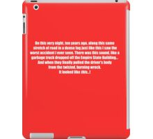Pee-Wee Herman - On This Very Night, Ten Years Ago - Black Font iPad Case/Skin