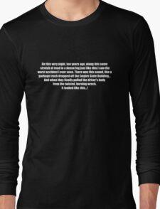 Pee-Wee Herman - On This Very Night, Ten Years Ago - Black Font Long Sleeve T-Shirt
