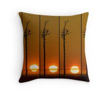 Solar Distortion Throw Pillow