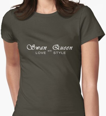 Swan Queen - Love with Style Womens Fitted T-Shirt