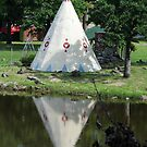 Tee pee reflections by Ronee van Deemter