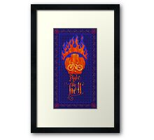 Ride like Hell Calligraphic cycling poster Framed Print