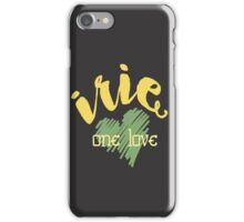 Jamaica Irie  One Love  iPhone Case/Skin