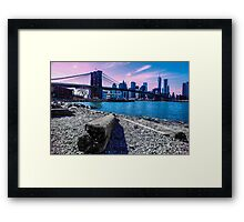 Pastel Brooklyn Bridge Framed Print
