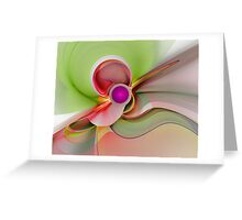 'Light Flame Abstract 101' Greeting Card