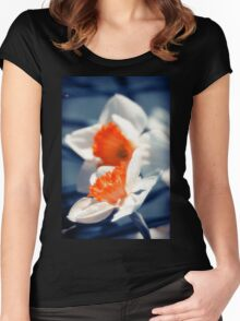 Narcissus Flower Women's Fitted Scoop T-Shirt