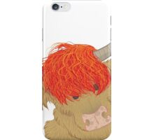 The highland cow iPhone Case/Skin