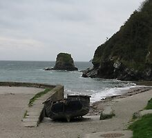HIGH AND DRY AT THE COAST - CHARLESTOWN NEAR ST AUSTEL CORNWALL by kazaroodie