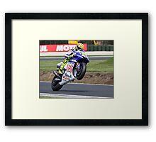Valentino Rossi Mono 2008 Framed Print