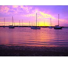 Purple Boats Photographic Print