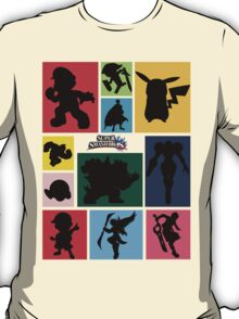 Super Smash Bros. For Wii U And 3DS: Roster T-Shirt
