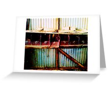 Old shed drawers Greeting Card