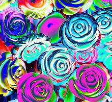 abstract colored roses stones by spetenfia