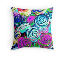 abstract colored roses stones Throw Pillow
