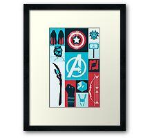 avengers minimalist Framed Print