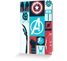 avengers minimalist Greeting Card