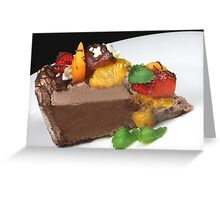 Chocolate and Fruits Greeting Card