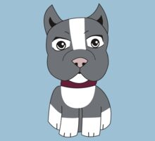 Cartoon Boston Terrier Baby Tee