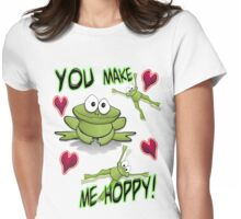 You Make Me Hoppy! Womens Fitted T-Shirt