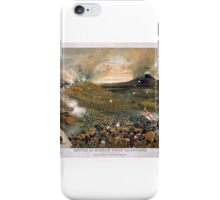 Union troops swarm Missionary Ridge and defeat Bragg's army. Battle of Mission 1863 iPhone Case/Skin