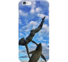 Girl with a Dolphin iPhone Case/Skin
