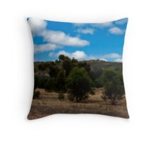 Amongst the Olives at Mt Stapylton Throw Pillow