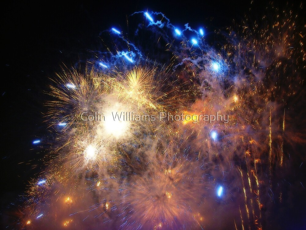 New Years Eve Fireworks ! by Colin  Williams Photography