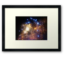 New Years Eve Fireworks ! Framed Print