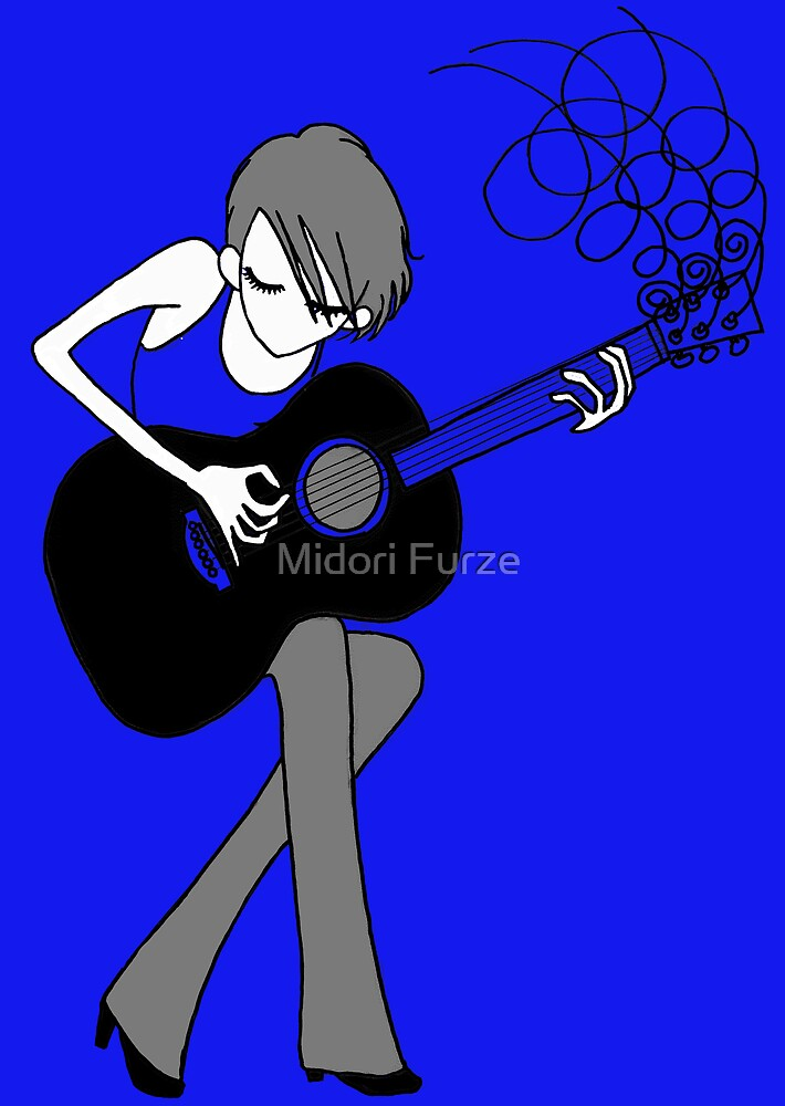 The Girl and the Guitar by Midori Furze