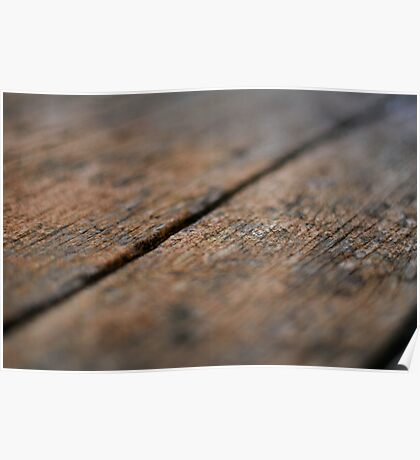 Wooden Boards Poster