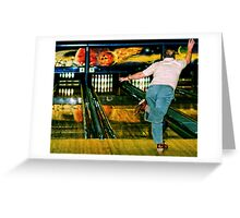 Friday Night Bowl-O-Rama Greeting Card