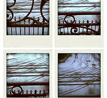 Snow tracks by Pascale Baud