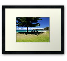 Seats in Shade Framed Print